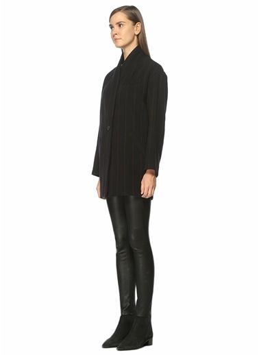 IRO Yün Dokulu Kısa Palto Siyah
